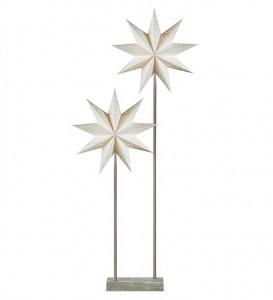 Lampadar alb/gri din hartie si rasina poliuretanica cu pulbere de piatra cu 2 becuri 100 cm Svan Star Double Markslojd