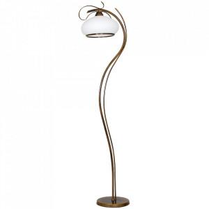 Lampadar alb/maro alama din sticla si metal 176 cm Patyna VIII Aldex