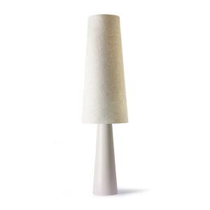 Lampadar crem din textil si ceramica 140 cm Retro Cone HK Living