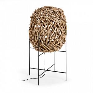 Lampadar din metal si lemn 100 cm Dikan La Forma