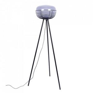 Lampadar gri/negru din sticla si fier 145 cm Smokey Zuiver