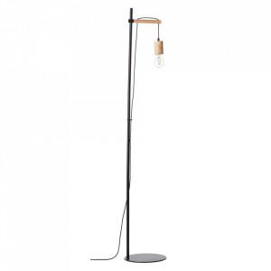 Lampadar maro/negru din lemn si metal 142 cm Jenji Brilliant