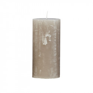 Lumanare gri piatra din parafina 15 cm Rustic Cozy Living Copenhagen
