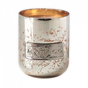 Lumanare parfumata cu suport argintiu/auriu din sticla 9 cm Monaco Riviera Maison