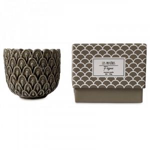Lumanare parfumata cu suport maro din ceramica 7 cm Sanna Opjet Paris