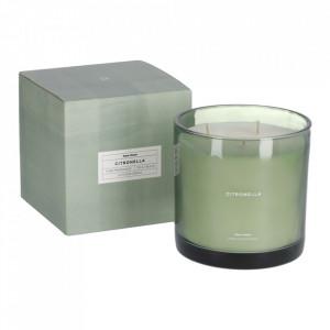 Lumanare parfumata din sticla 13 cm Citronella Kave Home