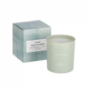Lumanare parfumata din sticla si ceara 9 cm Peaches & Cream Kave Home