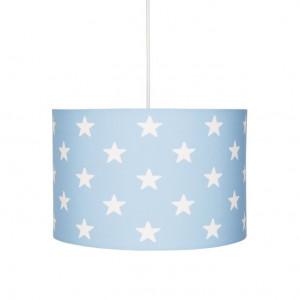 Lustra albastra din textil si inox Stars Livone