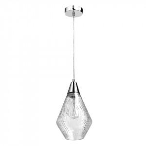 Lustra argintie/transparenta din sticla si metal Megapolis MW Glasberg