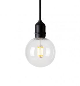 Lustra dimabila neagra/transparenta din plastic pentru exterior cu LED Garden Markslojd
