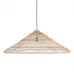Lustra maro din rachita Wicker Triangle HK Living