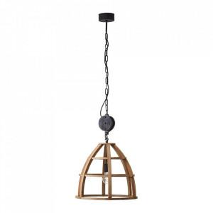 Lustra maro/neagra din metal si lemn Matrix Wood Brilliant