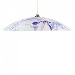 Lustra multicolora din sticla si otel Spring Violet Candellux