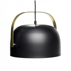 Lustra neagra cu detalii alama 30 cm Brass Hubsch
