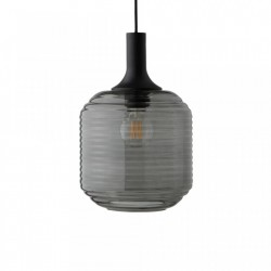 Lustra neagra din sticla si lemn Honey Frandsen Lighting