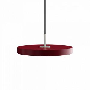 Lustra rosu rubin/argintie din plexiglas si otel Asteria Mini Umage