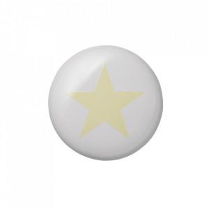 Maner alb/galben din ceramica North Star Bloomingville