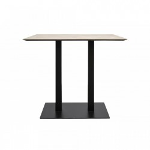 Masa bar din metal negru cu blat lemn stejar 110x70 cm Herringbone Versmissen