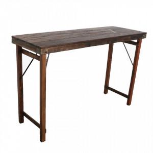Masa bar maro din lemn 60x170 cm Market Raw Materials