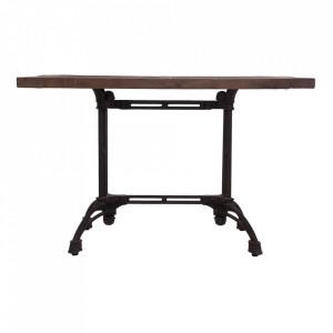 Masa bar maro/neagra din lemn 70x140 cm Thiers Vical Home