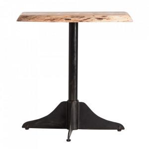 Masa bar maro/neagra din lemn si fier 80x80 cm Lawton Vical Home