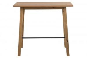 Masa bar maro/neagra din lemn si metal 58x117 cm Chara Actona Company