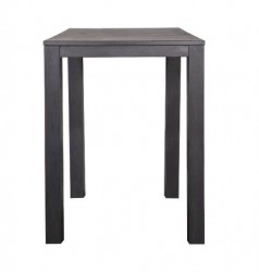 Masa bar neagra din lemn 85x85 cm Largo Blacknight Woood