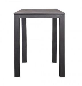Masa bar neagra din lemn 85x85 cm Largo Blacknight Woood