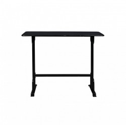 Masa bar neagra din metal 50x140 cm Declan Black Dutchbone