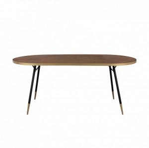 Masa dining din lemn si metal 180x90 cm Denise White Label