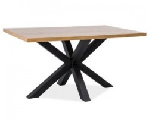 Masa dining din metal si lemn 90x150 cm Cross Lity Signal Meble
