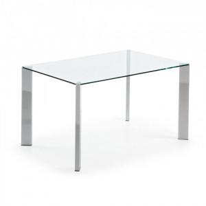 Masa dining din metal si sticla 90x140 cm Spot La Forma