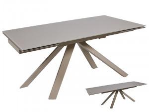 Masa dining extensibila din metal si sticla 160(200)x90 cm Tree Gray Santiago Pons