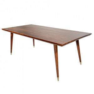 Masa dining maro din lemn de salcam 100x200 cm Mystic Invicta Interior