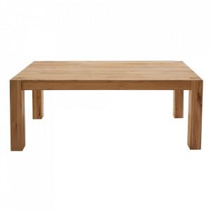 Masa dining maro din lemn de stejar 100x200 cm Pure Invicta Interior
