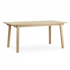 Masa dining maro din lemn de stejar 84x160 cm Slice Normann Copenhagen