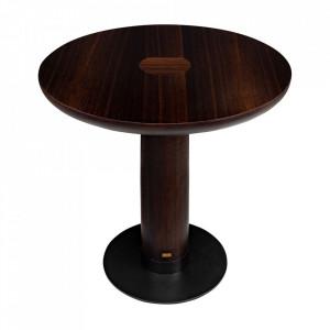 Masa dining maro/neagra din lemn si otel 80 cm Joburg Versmissen