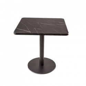 Masa dining neagra din MDF si polirasina 75x75 cm Shiny Pols Potten