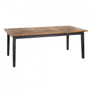 Masa dining neagra/maro din lemn de mango 100x200 cm Vista Ixia