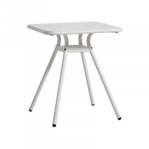 Masa dining pentru exterior alba din aluminiu 65x65 cm Ray Woud
