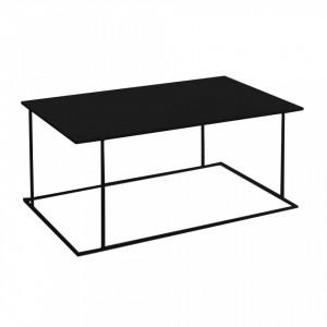 Masa neagra pentru cafea din metal 60x100 cm Walt Black Custom Form