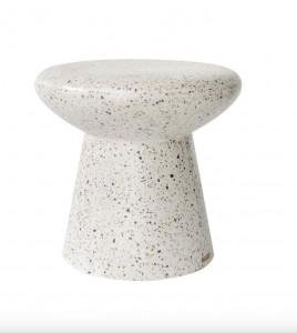 Masuta alba din beton 50 cm Mush Terrazzo Versmissen