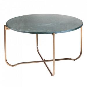 Masuta de cafea verde/aurie din marmura si metal 62 cm Noble Invicta Interior