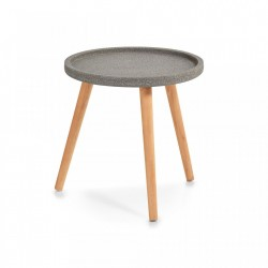 Masuta gri/maro din MDF si lemn 40 cm Concrete Small Zeller