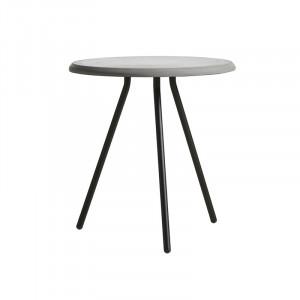 Masuta gri/neagra din beton si metal 45 cm Soround Woud