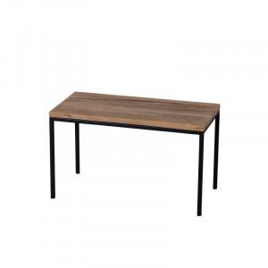 Masuta maro/neagra din lemn de stejar si metal pentru cafea 30x60 cm Vidya Lifestyle Home Collection