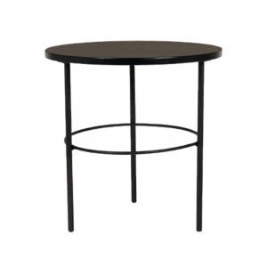 Masuta neagra din placaj si fier pentru cafea 50 cm Radisson Lifestyle Home Collection