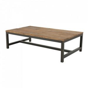 Masuta neagra/maro din metal si lemn pentru cafea 60x120 cm Alivany Actona Company