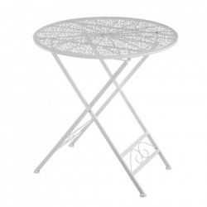 Masuta pliabila alba din metal pentru exterior 70 cm Refined Table Unimasa