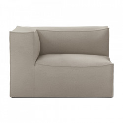 Modul canapea bej din bumbac si in 119 cm Catena Armrest Left Natural Ferm Living